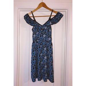 Dresses & Skirts - Blue butterfly 🦋 summer off shoulder sun dress